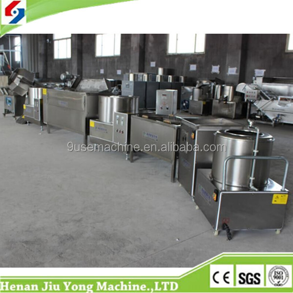 high quality automatic automatic frying potato chips machine