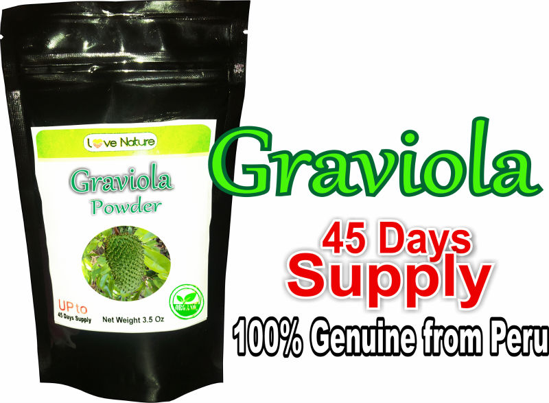 Genuine Graviola Powder made from 100% Pure leaves ( 100 gr/ 45 days supply)