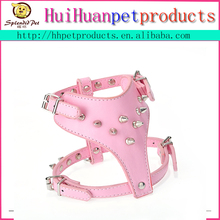 New PU Leather Studded Dog Harness For Pitbull