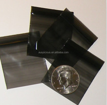 Black colored reclosable plastic bags PE zip lock bag