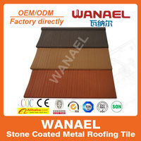 Lightweight Shake/Wood colorful sand coated roof tile sheet metal price