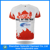 Shenzhen clothing polyester cheap t shirt screen printing