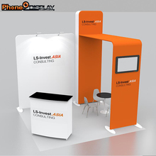 Hot sale 10FT custom aluminum portable trade show standard exhibition booth 3*3 display stands