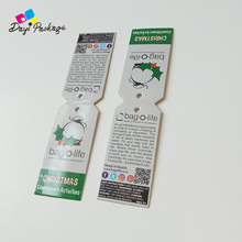 Free design custom hair extension packaging labels hang tags for hair