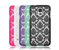 Custom Palace Flower Hard PC Case Ultra Thin Damask Phone Back Cover for Samsung Galaxy S5 S4 S3 I9600 I9500 I9300