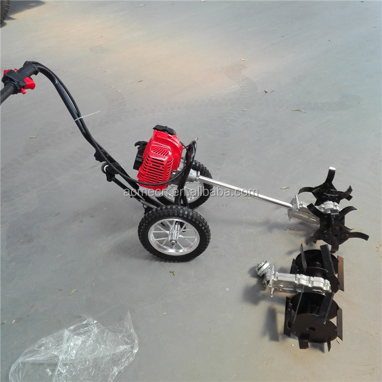 Rotary weeder brush cutter mower paddy hand weeder machine