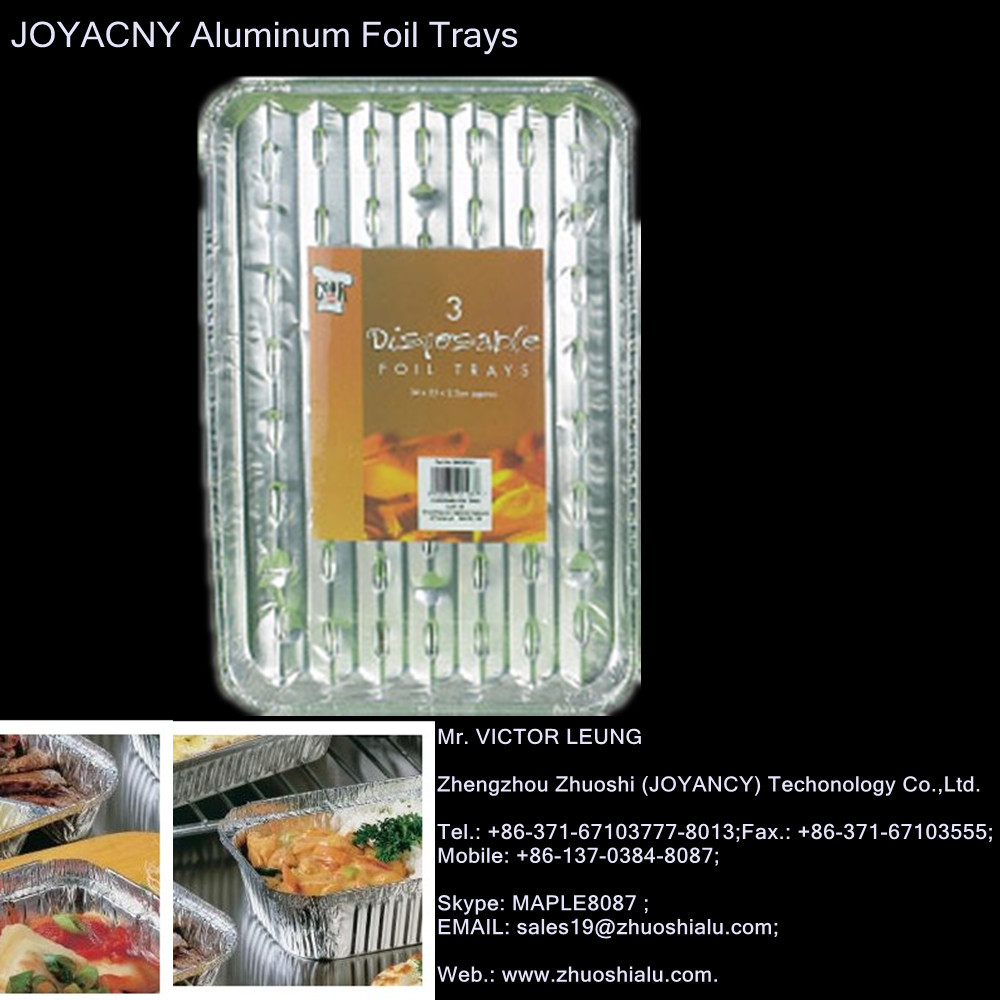 Disposable Aluminum Foil Barbeque Trays