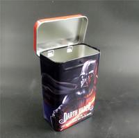 custom pack cigarette case metal with pop lid slide auto design food grade tin package tins CMYK cigar tubes packaging boxes