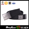 Hot selling Black Braided Cotton Belt Striped Waist Canvas belts