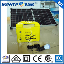 Newest portable 100w CE approved portable home solar system all in one