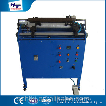China wholesale merchandise 500mm automatic cling film roll rewinding cutting machine
