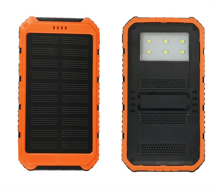 2017 Outdoor Travel high capacity phone battery charger portable Solar Power Bank for Mobile Phone