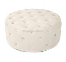 fabric round puff ottoman for living room HDOT189