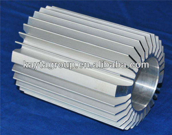 Aluminium Die Casting Cylindrical Heatsinks for LED Light Customed