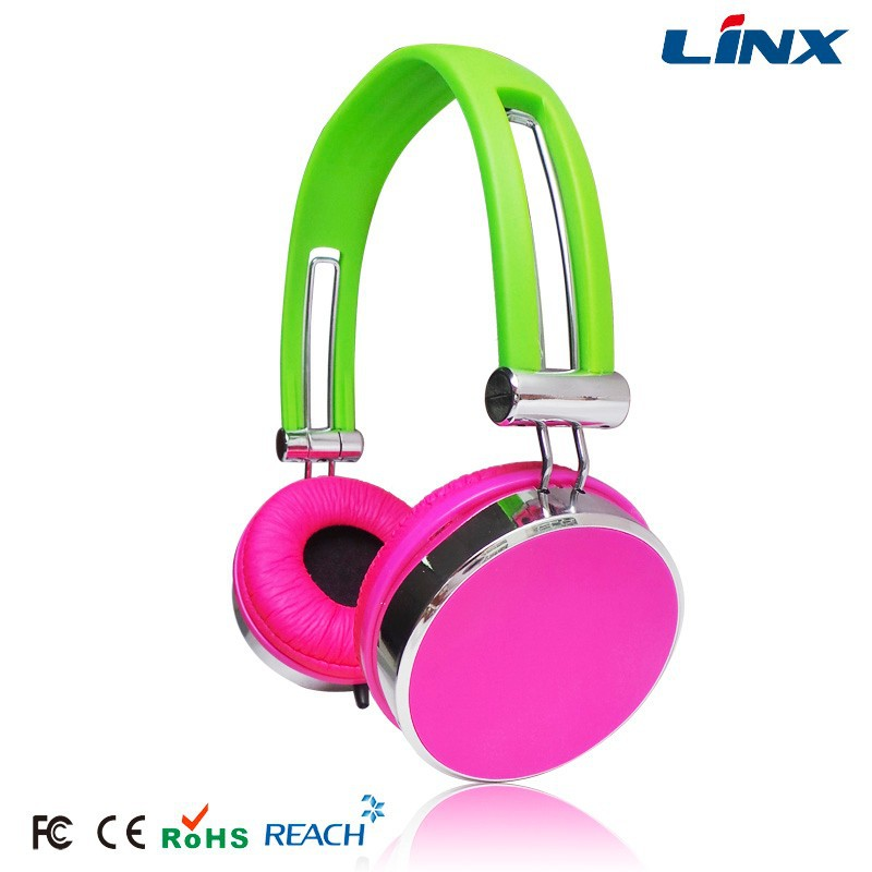 Hot selling cheap price big colorful headphones