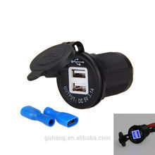 Car Motorcycles dc 12v-24v car charger 3.1a dual usb 2 port