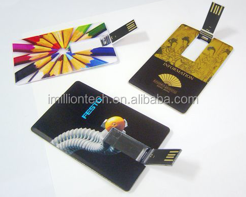 1GB 2GB 4GB 16GB USB Credit Card Flash Memory with full colors printing