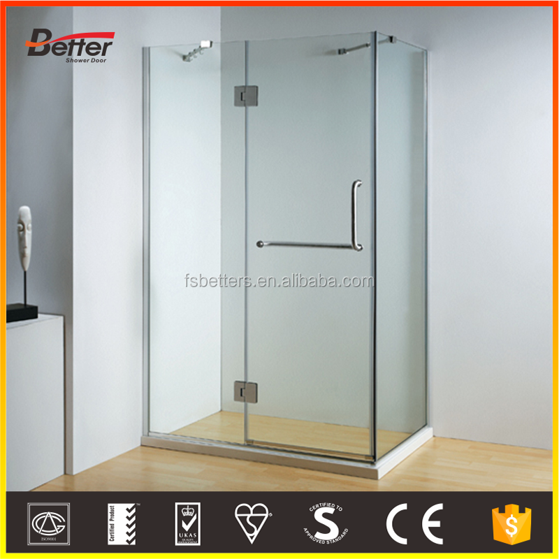 8mm tempered self-cleaning glass bathtub size hinge open shower enclosure