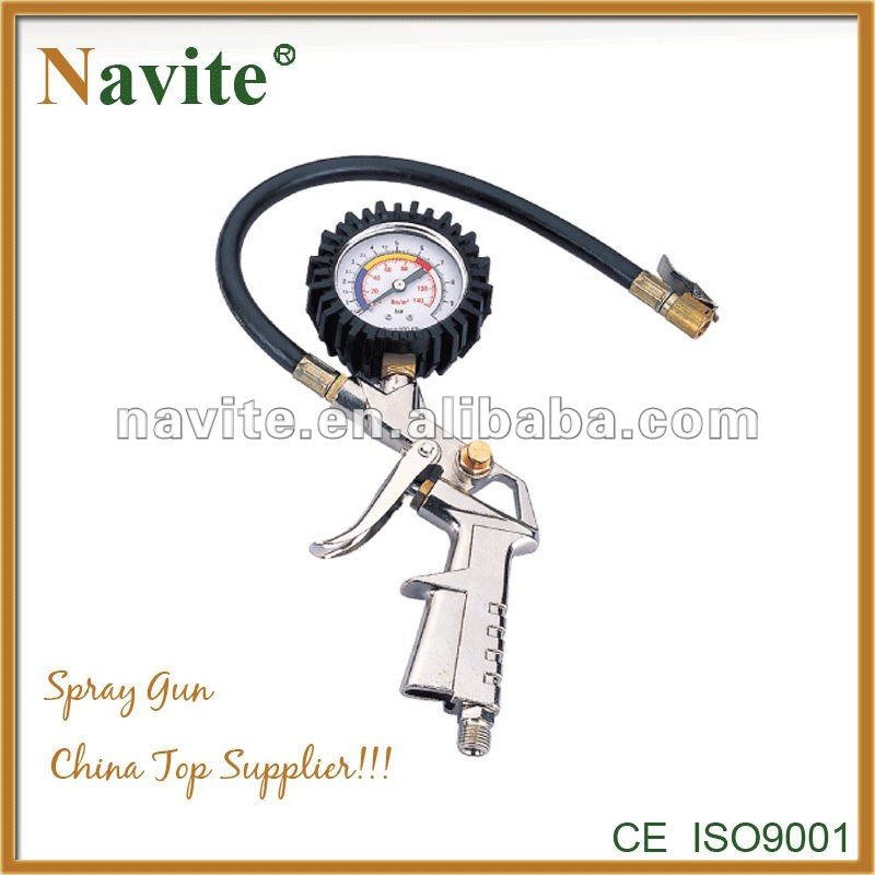 Navite Tire Inflator TG-6, Tire Inflator with gauge, portable car tire Inflator