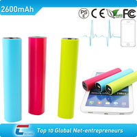 emergency charging high quality lipstick portable 2600mah mobile mini usb 2800mah battery charger power bank