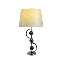 Hot sell chrome base black nickel ball nightstand table lamp