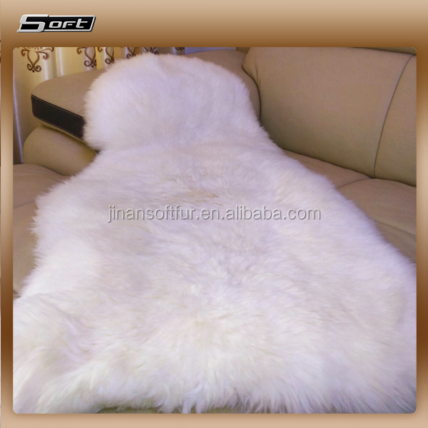 Best Factory Price Sheepskin rugs, Natural Color Fur Carbets