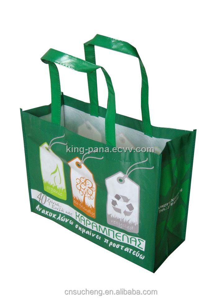 laminated bags woven shopping bags