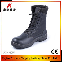 China factory price leather army safety shoe, military boots, safety equipment