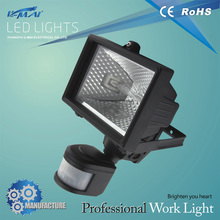 Ce Rohs Outdoor Ip65 Solar Powered 10W Led Flood light With Motion Sensor