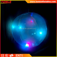 hot sale pvc inflatable glow beach ball/ lighting ball/ big size beach ball
