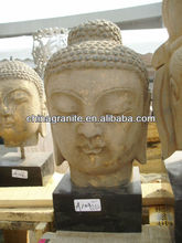 buddha head stone antique