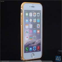 New Slim Ultra Thin Aluminum Metal Frame Bumper Case For iPhone 6 golden color