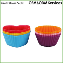 Kitchen Craft Colourworks Silicone Reusable Cupcake Cases 7 cm cup mold bakeware