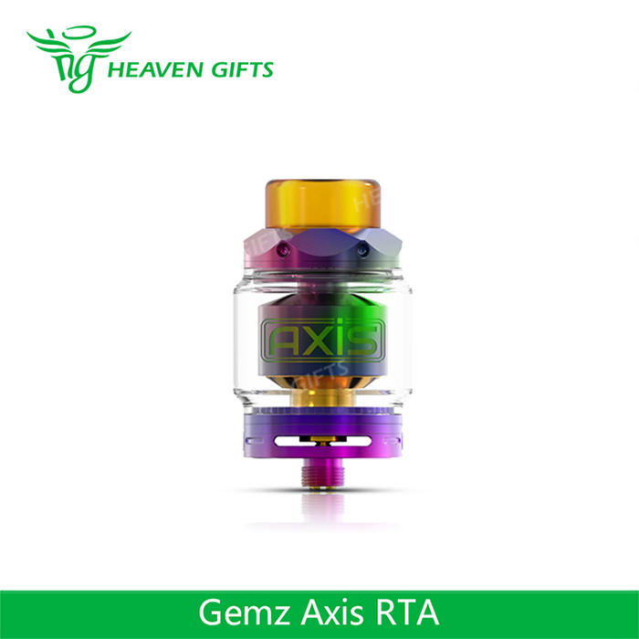 100% Authentic E cigarette tank 2.5ml/4.0ml Large Capacity Gemz Axis RTA Atomizer
