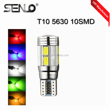 No error auto car interior decoration light T10 led light canbus 10ps 5630 SMD W5W 192 501 2825 2821 5w5 921 168 194 led