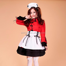High Quality Red Sexy Dress Lolita Maid Dress Costume Anime Cosplay Costume Halloween Costume Sexy Fancy Dress