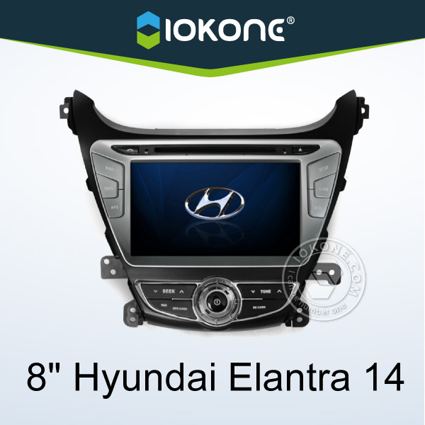 "2014 factory 8"" HD Touch screen 2 din hyundai elantra oem radio with gps, TMC, camera, mic, dvb-t"