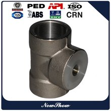 ASME B16.11 stainless steel pipe fittings Socket Weld Reducing Tee