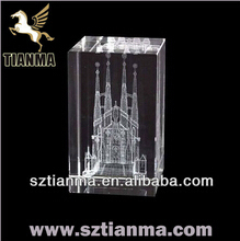 Wholesale 3D laser cheap crystal islamic gifts and crafts