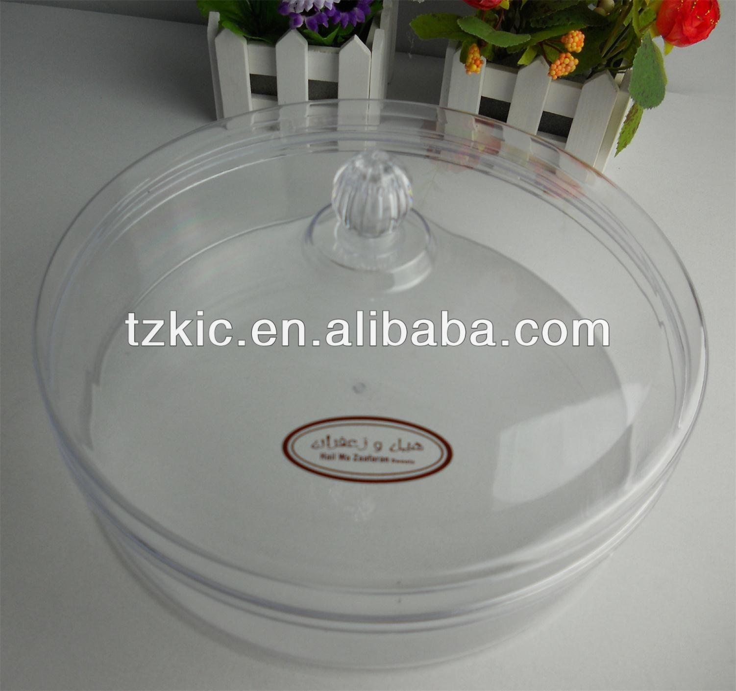 Plastic Round Acrylic Clear Case Display Box for cake