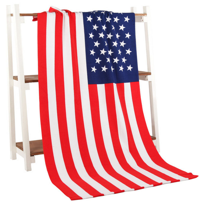 2018 Custom Microfiber Printing American Flag Beach <strong>Towel</strong>