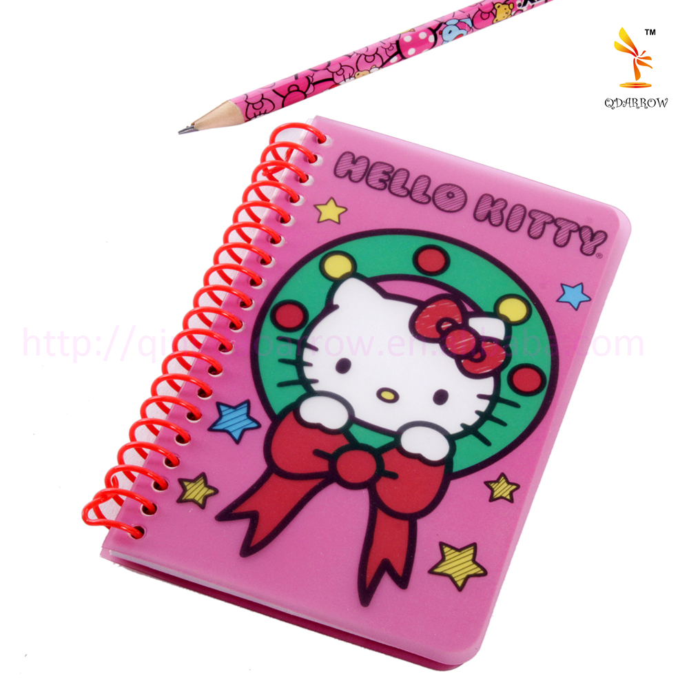 PVC Cover Printing Spiral Notebook Dairy Notebook