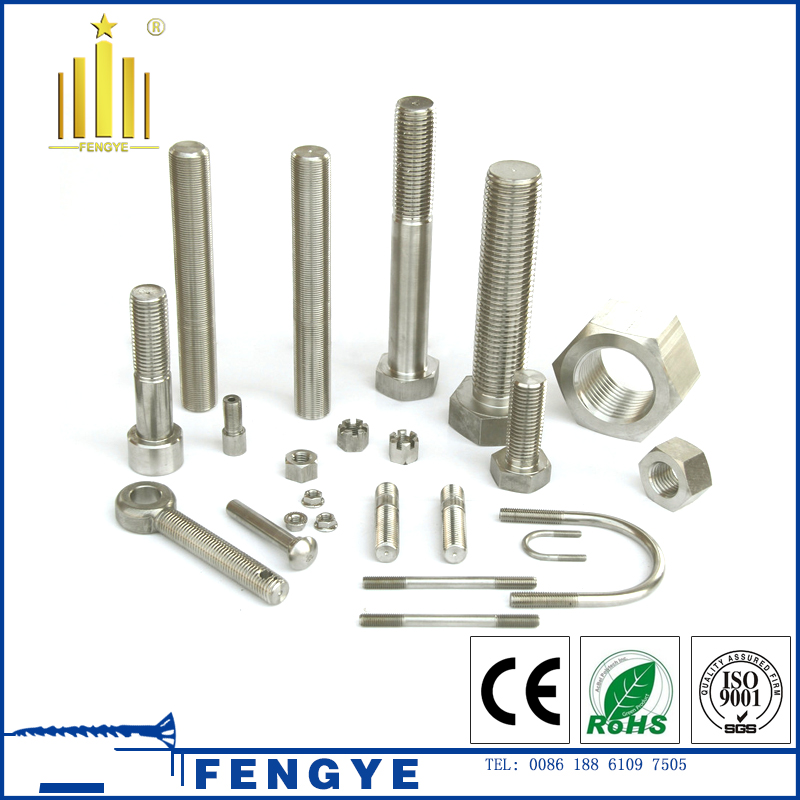 manufaturing price stainless steel hexagon head bolt and push nuts