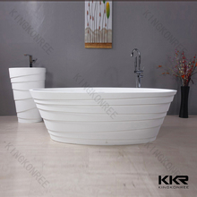 Cast Stone Solid Resin polymer marble freestanding bathtub