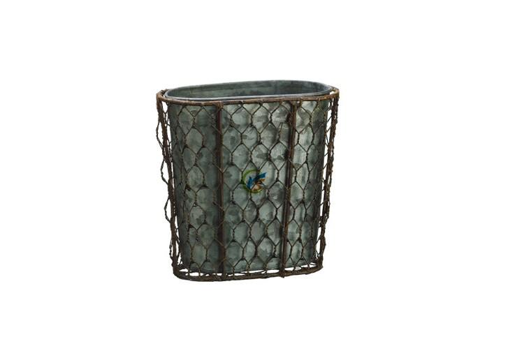 Wholesale metal meshed planter steel bucket buy steel for Metal bucket planter