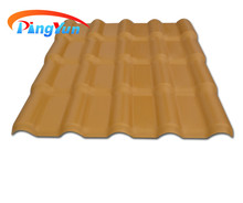 golden color insulated spanish type roof tile/top quality PVC+ASA roofing tile