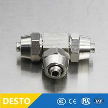 KLE series Pneumatic brass 3 ways pipe joint connector