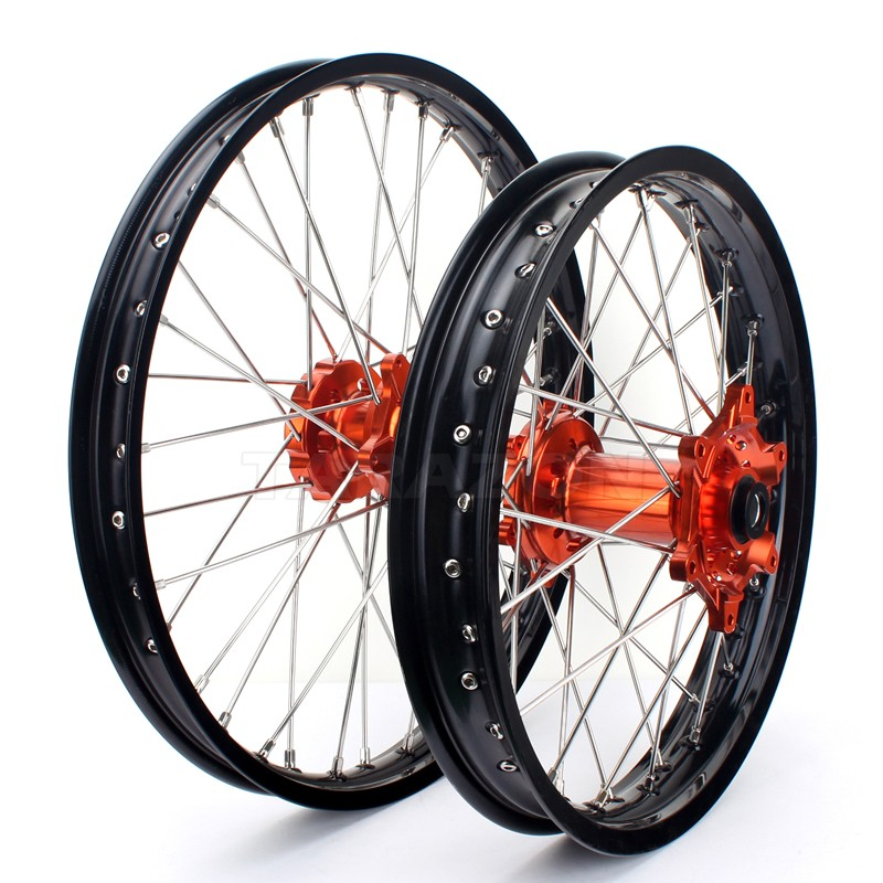 21 18 Inch Dirt Bike EXC SX SXF 125 250 450 Front Rear Alloy Wheel Rims Set for KTM