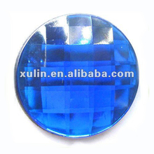 30mm blue flat back acrylic resin round beads