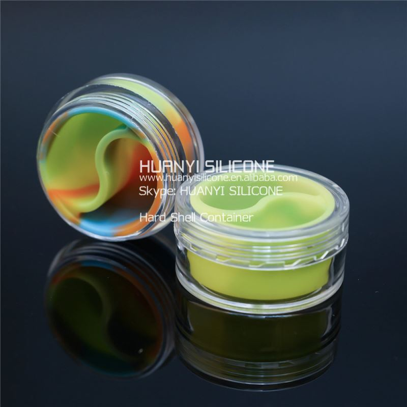 Silicone jars dab wax container, customized silicone butane hash oil containers, wax&oil wholesale silicone jars